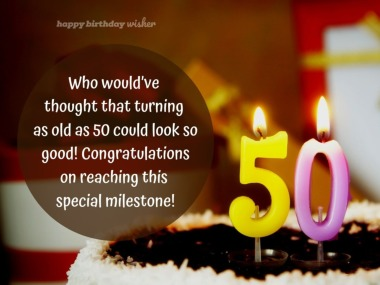 50 looks good on you