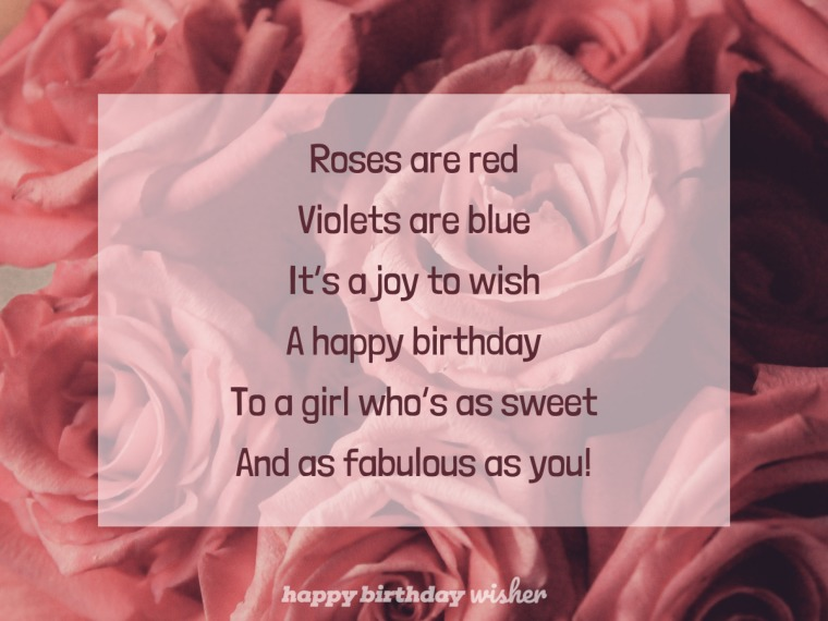 A birthday poem for a girl so sweet