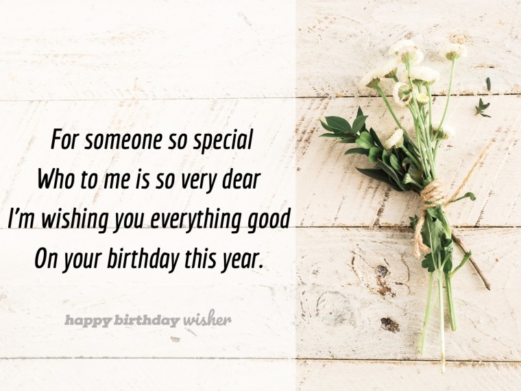 A birthday wish for someone so dear to me