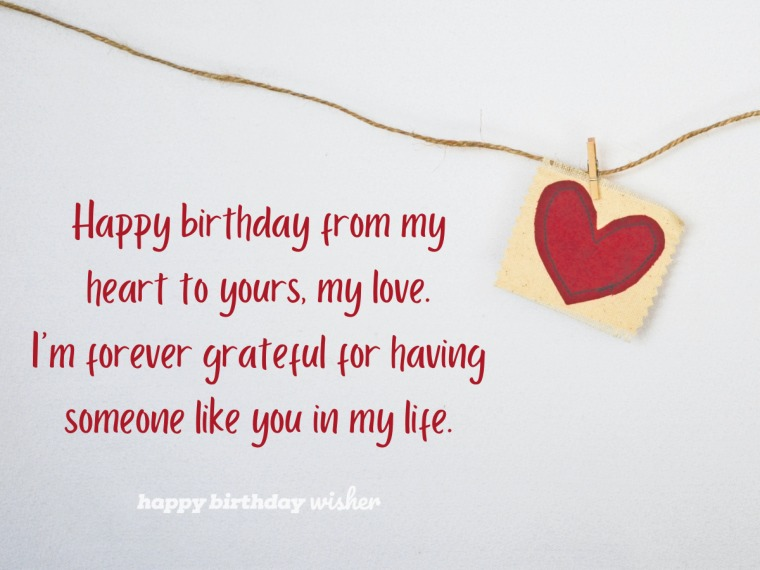 A birthday wish from my heart to yours, love