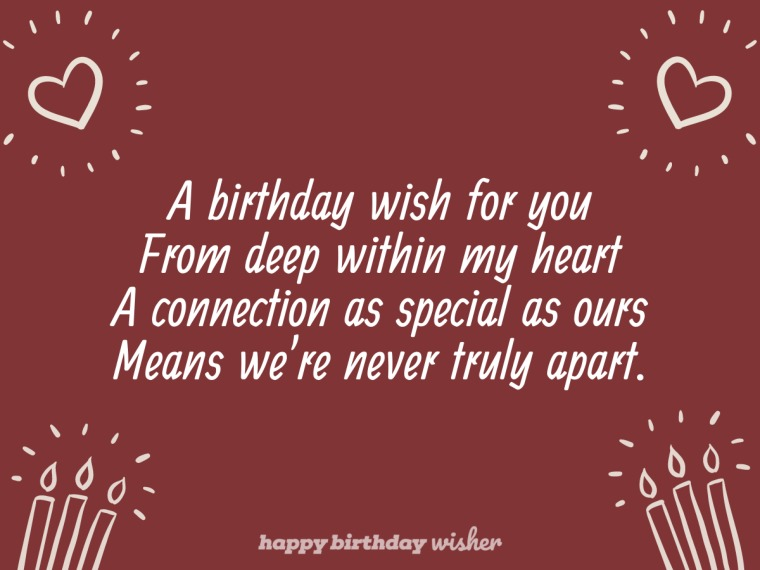 A birthday wish from my heart to yours