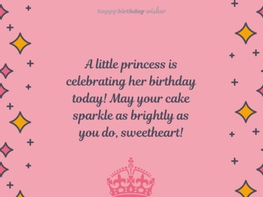 A little princess is celebrating her birthday