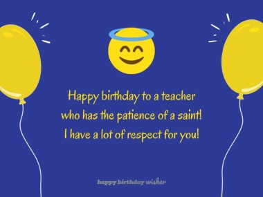A teacher with the patience of a saint