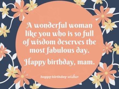 A wonderful woman so full of wisdom
