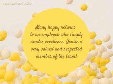 An employee who exudes excellence