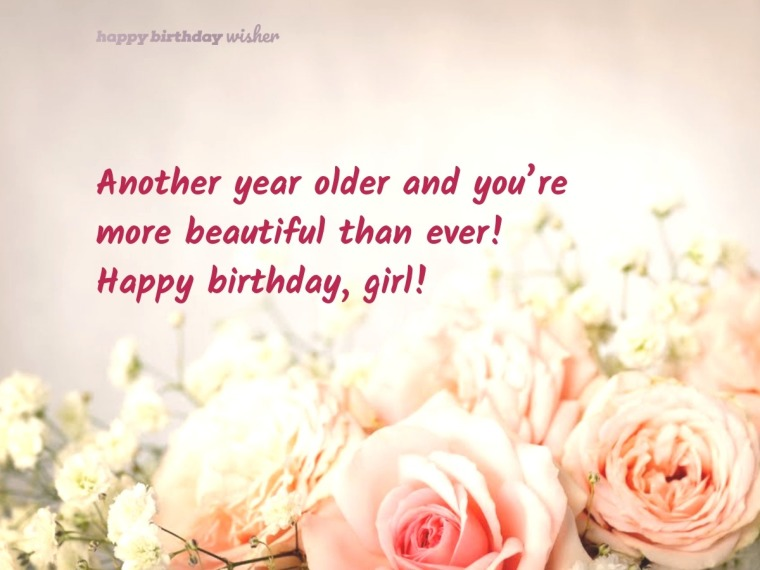 Birthday Wishes for Girls - Happy Birthday Wisher