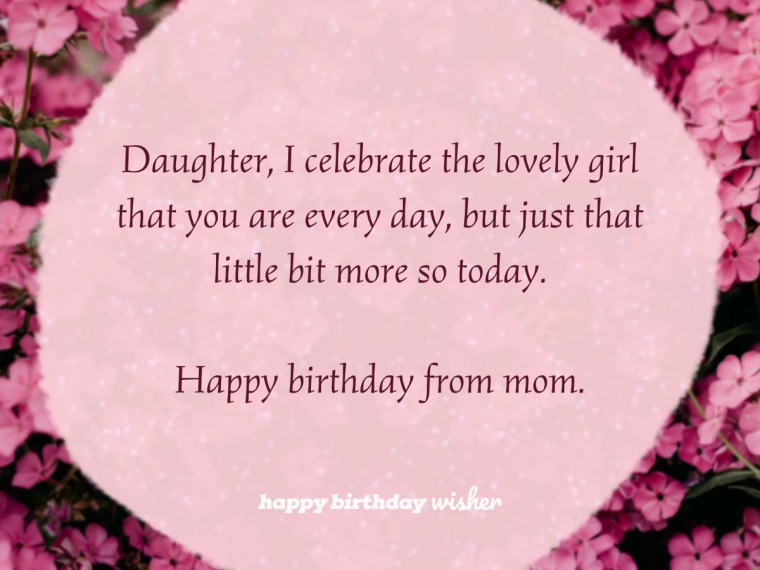 Celebrating the sweet girl that you are, daughter