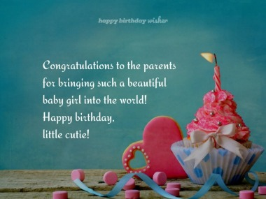 Congratulations to the parents