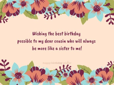 Happy Birthday Girl Cousin Birthday Wishes For Cousin