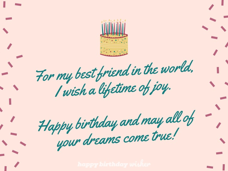 For my best friend in the world