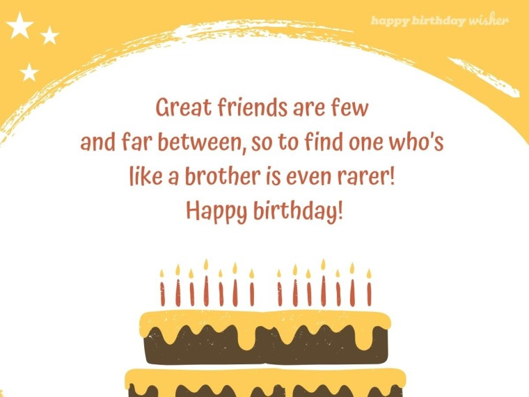 Great friends are few and far between