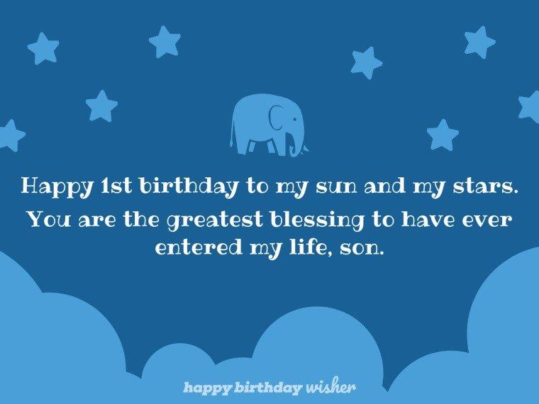 Happy 1st birthday to my sun and my stars
