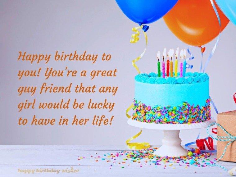 Happy birthday to a great guy friend