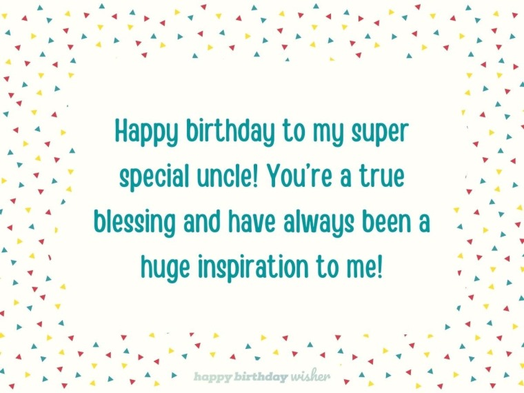 Happy birthday to a super special uncle