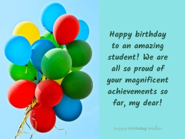 Happy birthday to an amazing student