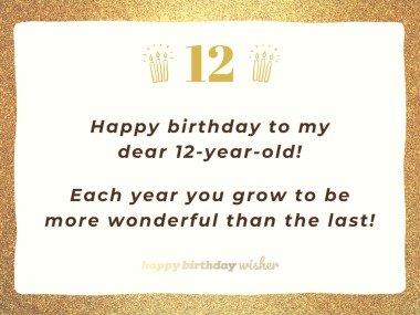 Happy birthday to my dear 12-year-old