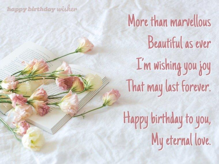 Happy birthday to my eternal love