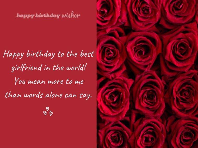 Happy birthday to the best girlfriend