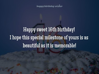 Happy sweet 16th birthday