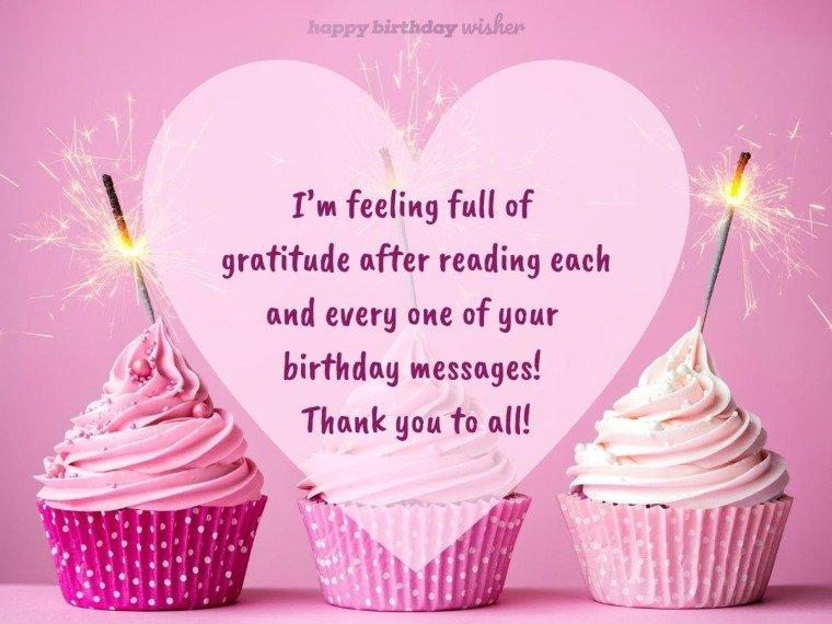 I am feeling full of gratitude