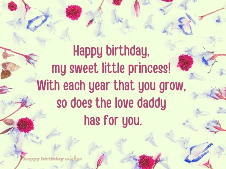 I love you more each year, my princess