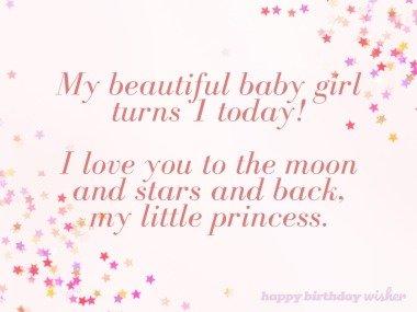 My beautiful baby girl turns 1 today