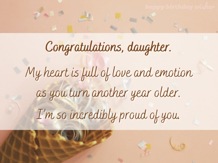My heart is full on your birthday, daughter