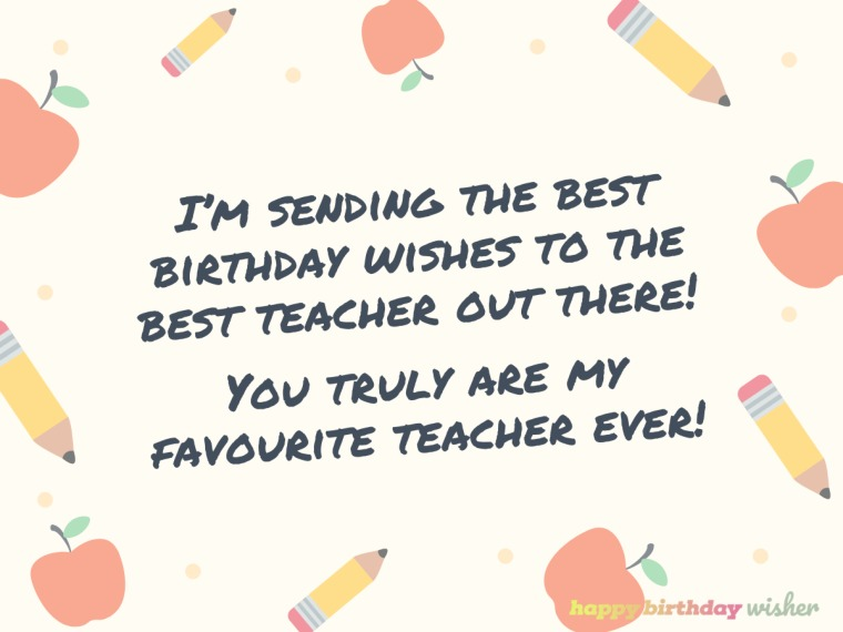 The best wishes for the best teacher