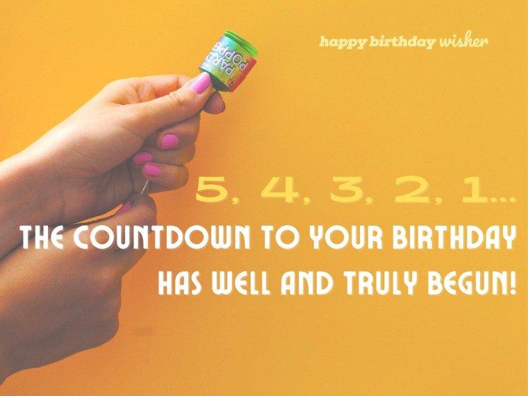 The countdown has begun