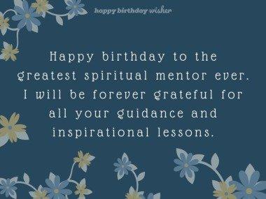 The greatest spiritual mentor ever