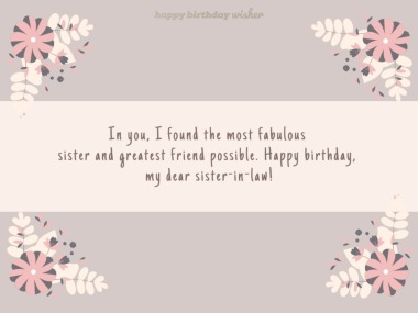 Marvelous Birthday Wishes For Sister In Law Happy Birthday Wisher Personalised Birthday Cards Paralily Jamesorg