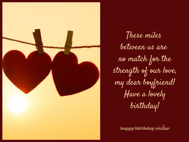 These Miles Are No Match For Our Love Happy Birthday Wisher