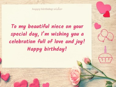 To my beautiful niece on your special day
