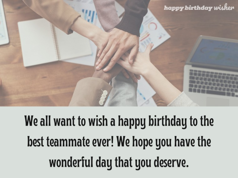 To the best teammate ever