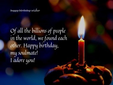 Birthday Wishes for Soulmate - Happy Birthday Wisher