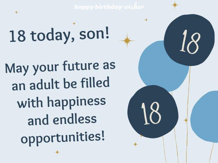 Wishing you a bright future as you turn 18