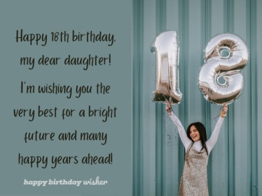 Wishing you a bright future, daughter