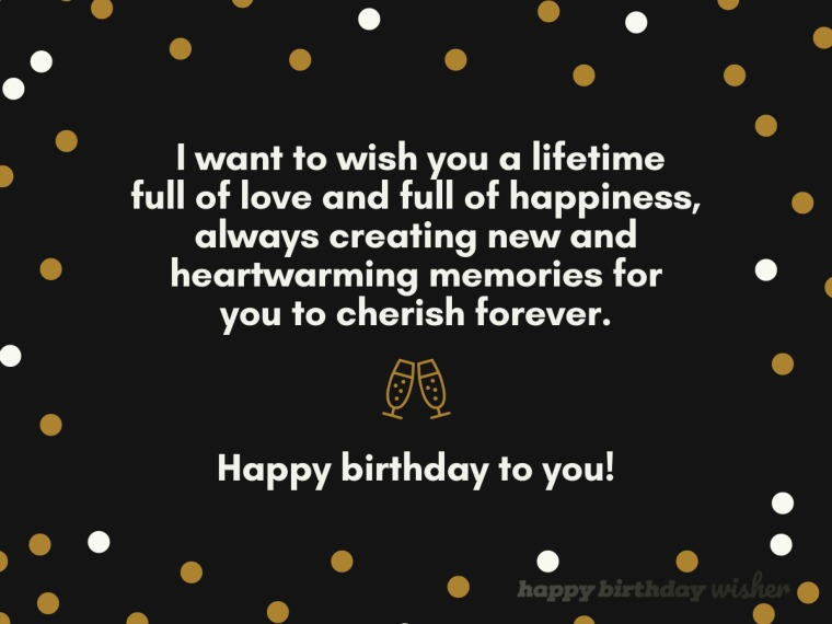 Wishing you a lifetime of love and happiness