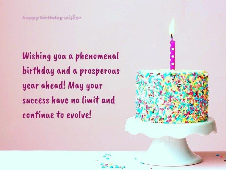 Wishing you a phenomenal birthday