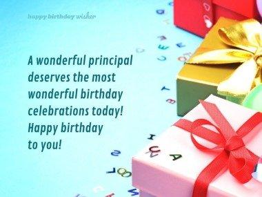 Wishing you a wonderful birthday, principal