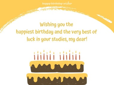 Wishing you the best of luck in your studies