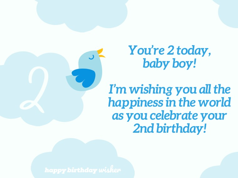 You're 2 today, baby boy