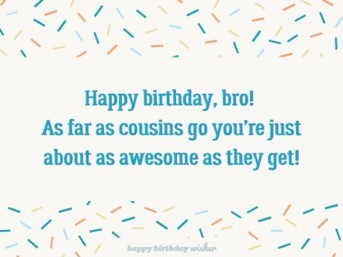 You're as awesome as cousins get