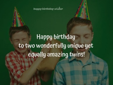 You twins are unique yet equally amazing