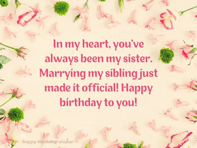 You've always been my sister
